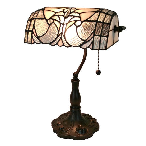 Amora Lighting Tiffany Style Floral Banker Tiffany Style Table Lamp