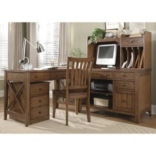 Hearthstone Rustic Oak Computer Credenza
