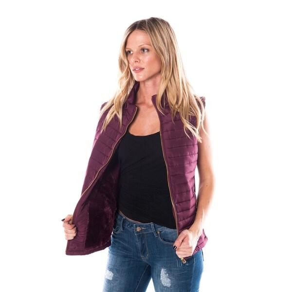 Women's Zip-up Vest with Zipper Side Pockets