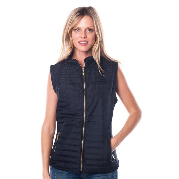 Women's Zip-Up Vest with Faux Fur Lining