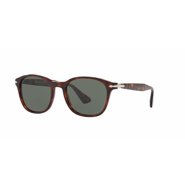 Persol Mens PO3150S 24/31 Havana Plastic Square Sunglasses