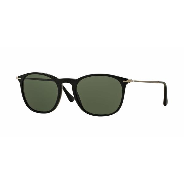 Persol Mens PO3124S 95/31 Black Plastic Square Sunglasses