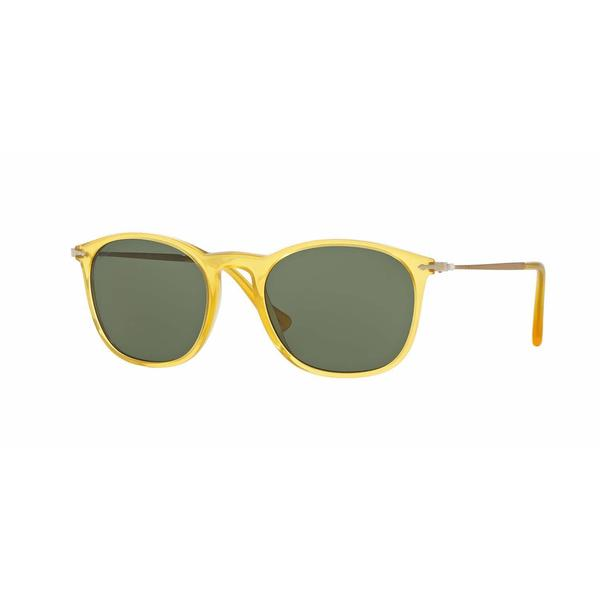 Persol Mens PO3124S 204/31 Honey Plastic Square Sunglasses