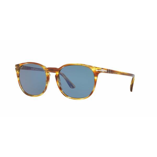 Persol Mens PO3007S 105056 Brown Plastic Square Sunglasses
