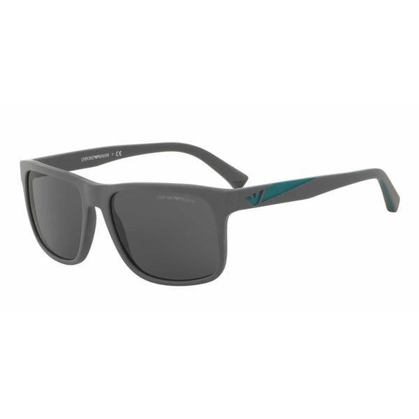 Emporio Armani Mens EA4071F 550287 Grey Plastic Square Sunglasses