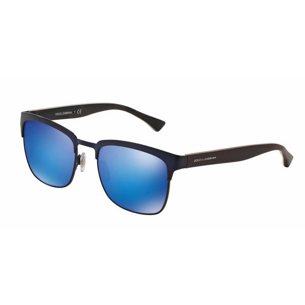Dolce & Gabbana Mens DG2148 128025 Blue Metal Square Sunglasses
