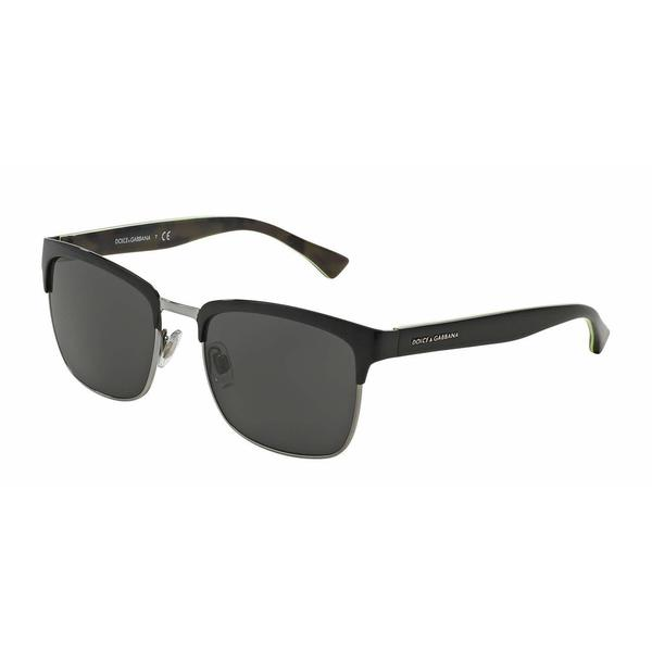 Dolce & Gabbana Mens DG2148 127787 Black Metal Square Sunglasses