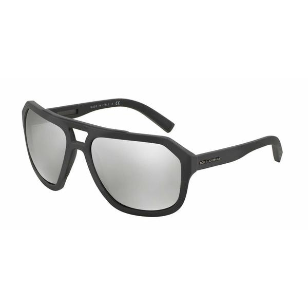 Dolce & Gabbana Mens DG2146 12676G Grey Metal Irregular Sunglasses