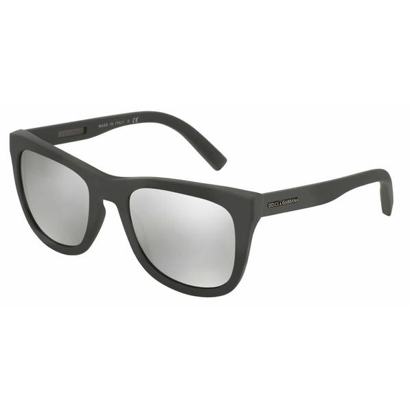 Dolce & Gabbana Mens DG2145 12676G Grey Metal Square Sunglasses