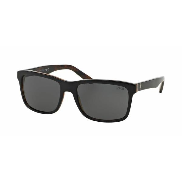 Polo Mens PH4098 526087 Black Plastic Square Sunglasses