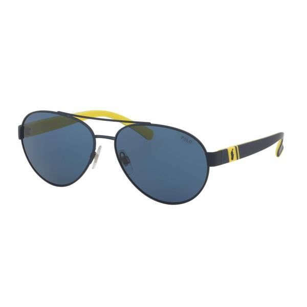 Polo Mens PH3098 911980 Blue Metal Cateye Sunglasses