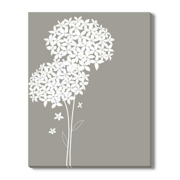 Pretty White Flowers, Canvas Gallery Wrap