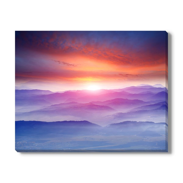 Sunset in mountains, Canvas Gallery Wrap