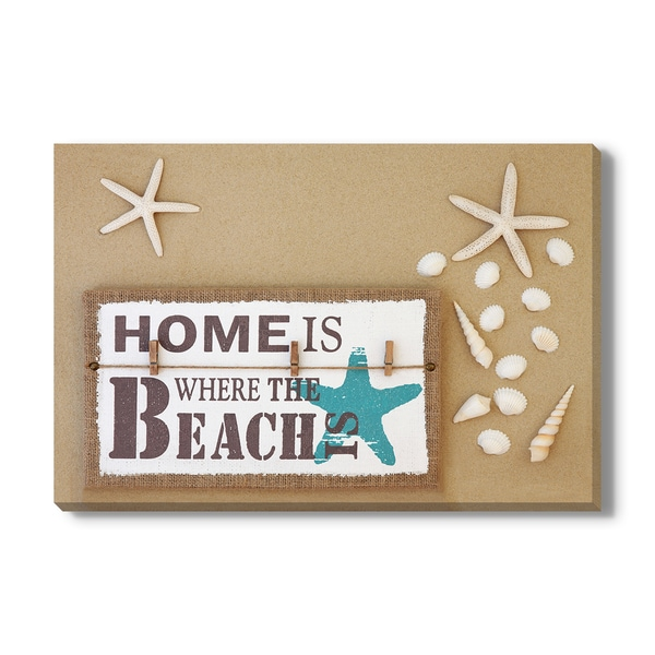 Home Is Where the Beach Is, Canvas Gallery Wrap