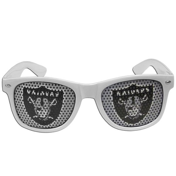 NFL Oakland Raiders Black/White Game Day Shades