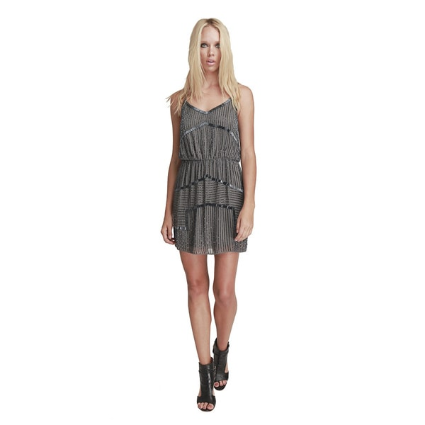 Walter Baker Destiny Grey Polyester Dress