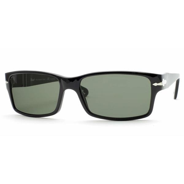 Persol Mens PO2803S 95/58 Black Plastic Rectangle Sunglasses