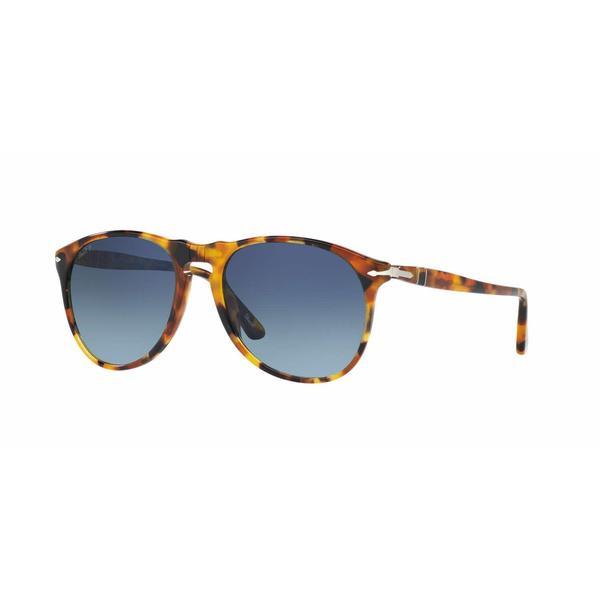 Persol Mens PO9649S 1052S3 Havana Plastic Cateye Sunglasses