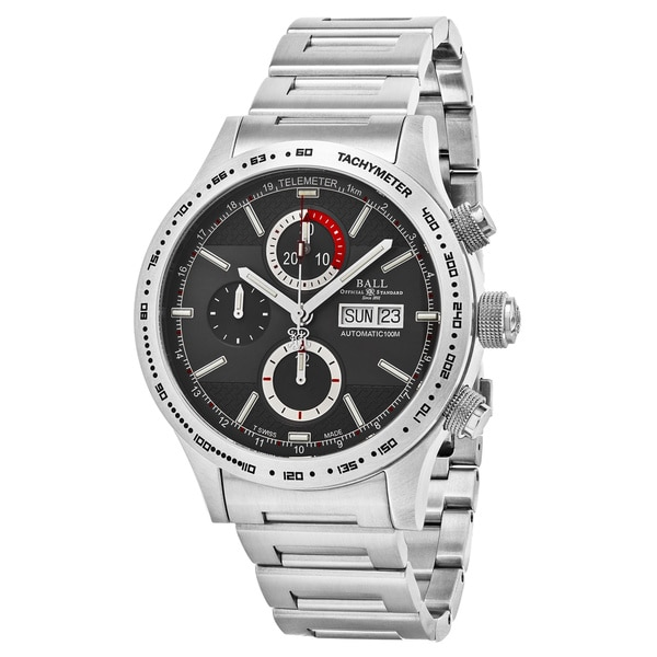 Ball Men's CM2092C-S-GY 'Fireman Chase Storm' Grey Dial Stainless Steel Chronograph Swiss Automatic Watch