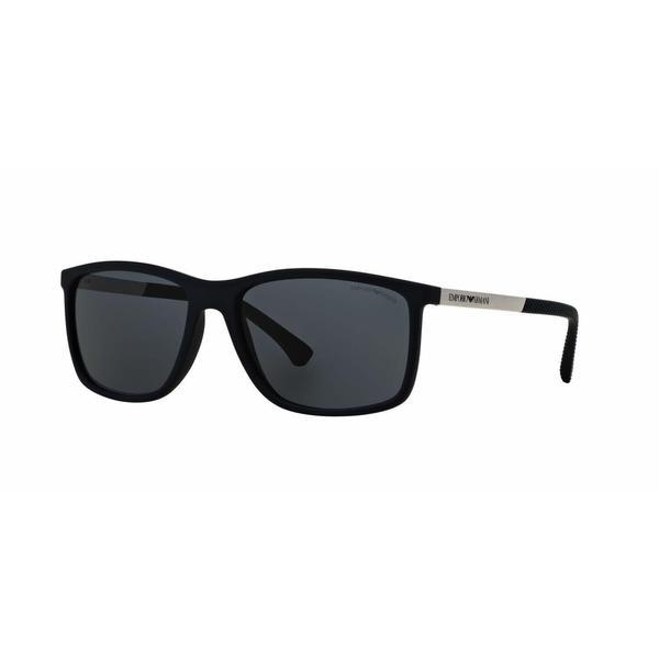 Emporio Armani Mens EA4058 547487 Blue Plastic Rectangle Sunglasses
