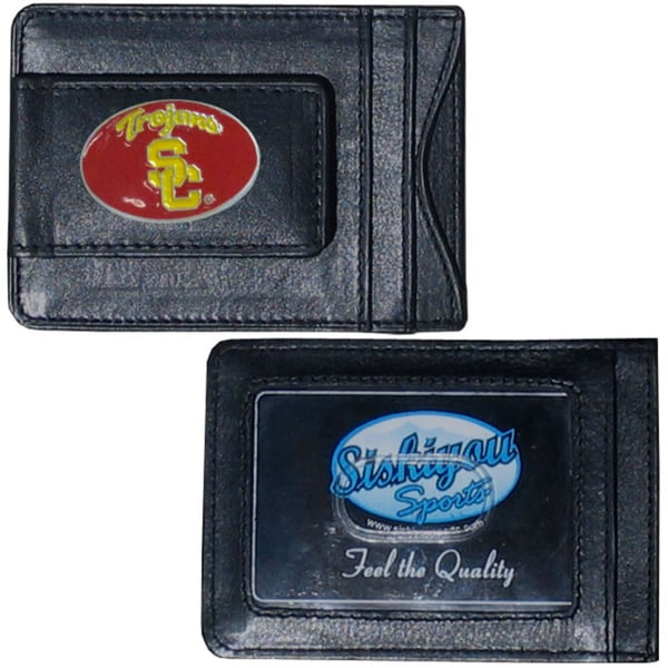 Collegiate USC Trojans Leather Cash & Cardholder