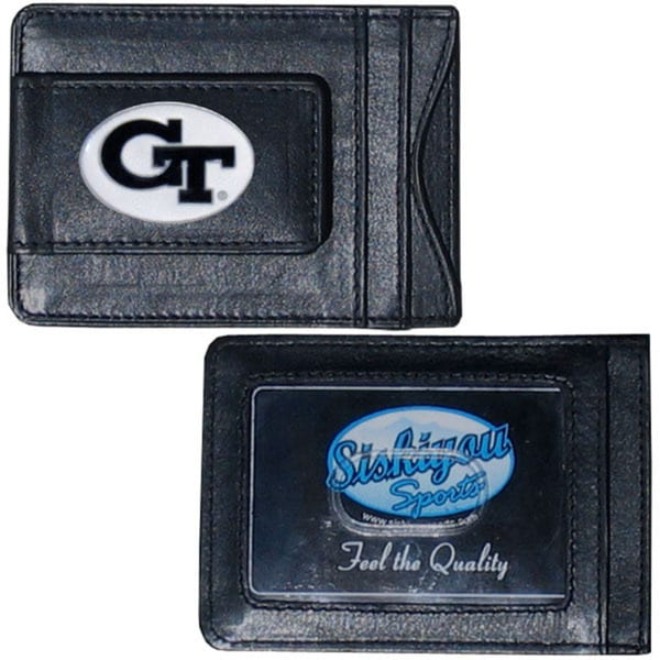Collegiate Georgia Tech Yellow Jackets Leather Cash and Card Holder