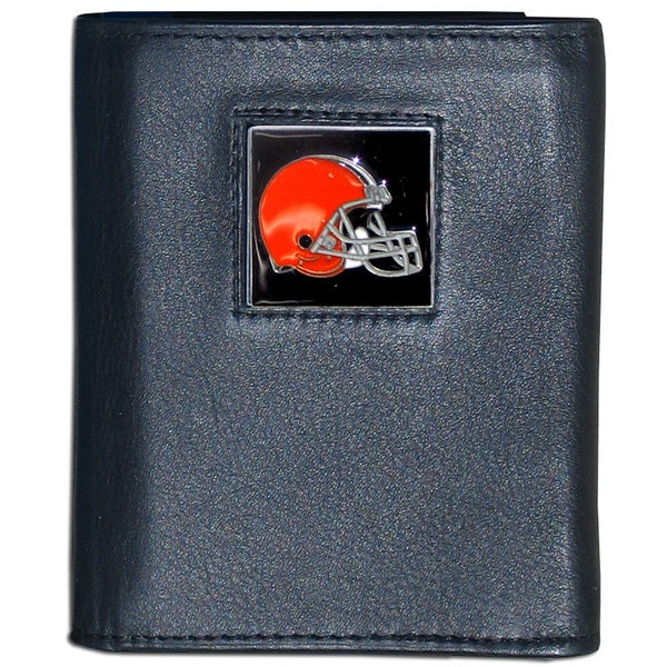 NFL Cleveland Browns Leather Tri-fold Wallet