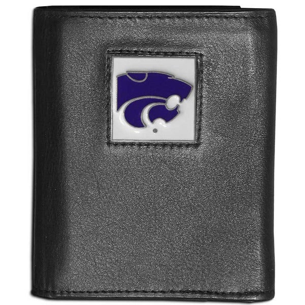 Collegiate Kansas State Wildcats Leather Tri-fold Wallet