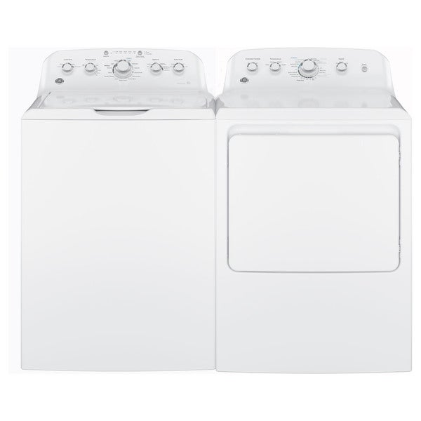 GE Laundry Pair with 7.2-cubic Feet Capacity Aluminized Alloy Drum Gas Dryer and 4.2-cubic Feet Capa 22335945