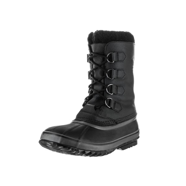 Sorel Men's '1964 Pac' Black Leather, Nylon, Rubber, and Textile Boots