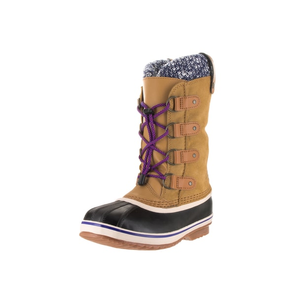 Sorel Kids' Joan of Arctic Curry Leather Knit Boots