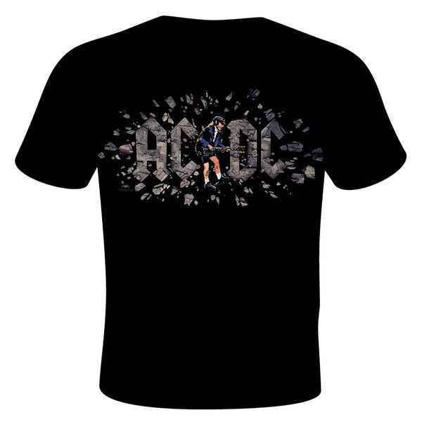 Stephen Fishwick Men's AC/DC 'Those About to Rock' Black Cotton Graphic T-shirt