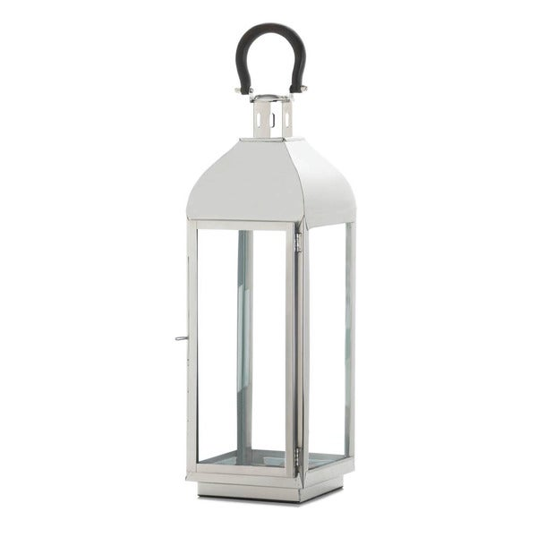 Home Locomotion Indoor Outdoor Tribeca Steel, Glass Large Candle Lantern