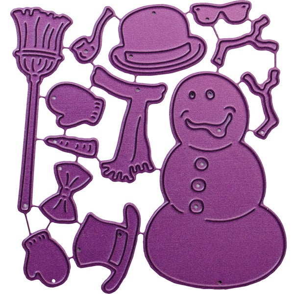 "Cheery Lynn Designs Die-Build-A-Snowman, .625"" To 2.75"""