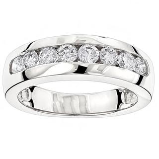 Luxurman 14k Gold Men's 1/2ct TDW Diamond Wedding Ring