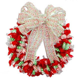 Spearmint, Peppermint and Cinnamon Candy Wreath