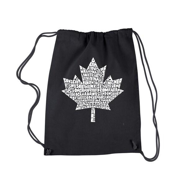LA Pop Art Canadian National Anthem Cotton Drawstring Backpack