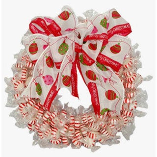 Peppermint Twist Candy Wreath