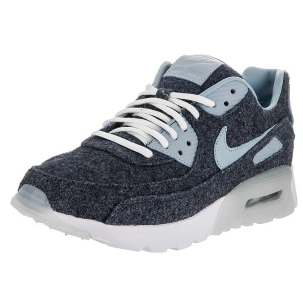 Nike Women's Air Max 90 Ultra Blue Wool Premium Running Shoes