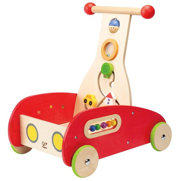 Hape Wonder Walker Red Wooden Push and Pull Toy