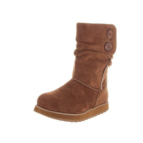 Skechers Women's Keepsakes Chilly Willy Brown Suede Boots