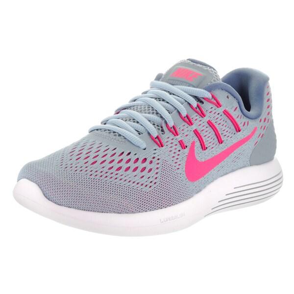 Nike Women's Lunarglide 8 Blue Mesh Running Shoes