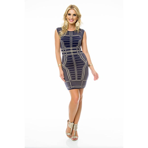 Sara Boo Navy Tricot Dress