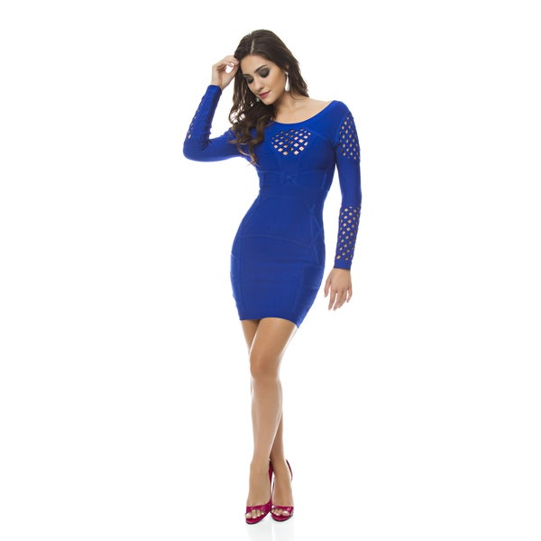 Sara Boo Eyelet Bandage Dress