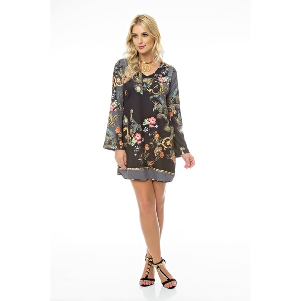 Sara Boo Black Floral Cami Dress