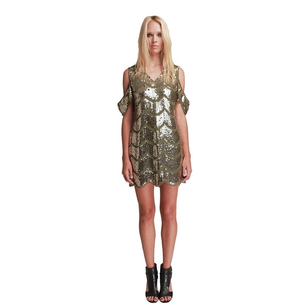 Walter Baker Marika Olive Beaded Dress