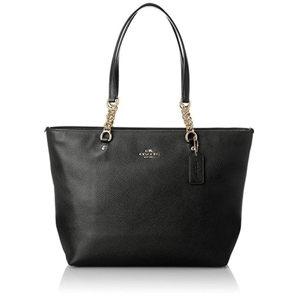 Coach Sophia Black Leather Tote Bag