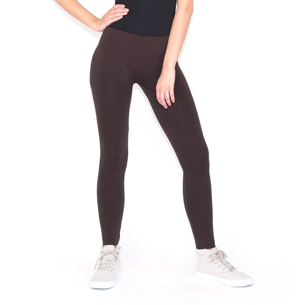 Solid Seamless Fleece Lined Leggings