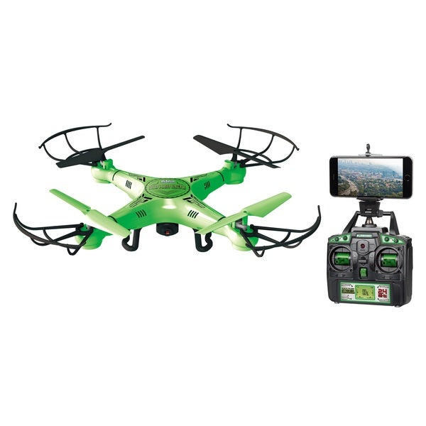 World Tech Toys Striker Glow-in-the-Dark Live Feed Wifi RC Camera Spy Drone
