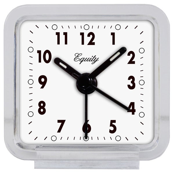 Lacrosse Technology Equity 21038 Clear Plastic Analog Alarm Clock